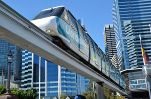 Sydney Monorail on Darling Bridge