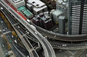 Expressways in Shinjuku, Tokyo